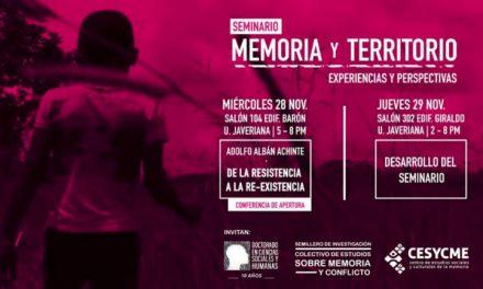 Seminario Memoria y Territorio