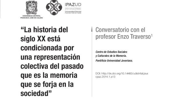 Conversatorio con el profesor Enzo Traverso