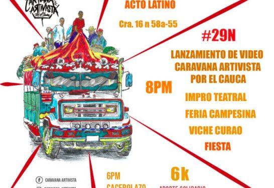 Festival Artivista hacia una nueva Caravana por el Cauca